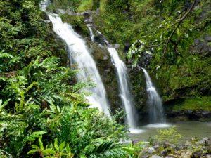 Island waterfall public domain