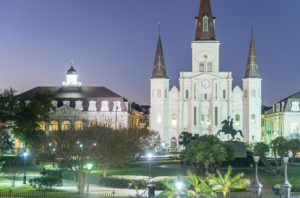 Beautiful architecture of Jackson Square, New Orleans - LA