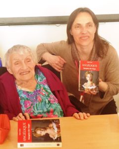 Anne Golon and Agnes, one of the co-creators of the Romance Book Festival in Paris, April 2016